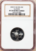 Proof Statehood Quarters, (3)2003-S 25C Illinois Silver PR 70 Ultra Cameo NGC. ... (Total: 3coins)