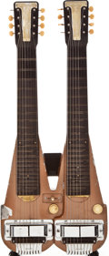 Musical Instruments:Lap Steel Guitars, Early 1950s Rickenbacker Electro Double Neck Brown Lap Steel Guitar, #N/A....