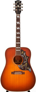 Musical Instruments:Acoustic Guitars, Modern Gibson Hummingbird Sunburst Acoustic Guitar, #00732018....
