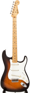 Musical Instruments:Electric Guitars, 1958 Fender Stratocaster Sunburst Solid Body Electric Guitar, #25015. ...