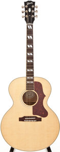 Musical Instruments:Acoustic Guitars, 2010 Gibson J-185 Natural Acoustic Guitar, #13100031....