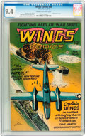 Golden Age (1938-1955):War, Wings Comics #66 (Fiction House, 1946) CGC NM 9.4 Cream tooff-white pages....