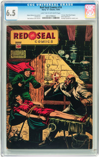 Red Seal Comics #14 (Chesler, 1945) CGC FN+ 6.5 Light tan to off-white pages