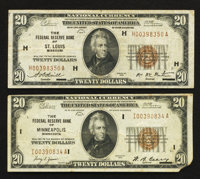Fr. 1870-H $20 1929 Federal Reserve Bank Note. Fine-Very Fine. Fr. 1870-I $20 1929 Federal Reserve Bank Note. F