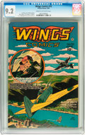 Golden Age (1938-1955):Adventure, Wings Comics #70 (Fiction House, 1946) CGC NM- 9.2 Cream tooff-white pages....