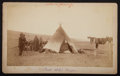 American Indian Art:Photographs, FOUR PLAINS INDIAN GENRE SCENES. c. 1890... (Total: 4 Items)