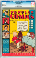 Platinum Age (1897-1937):Miscellaneous, Popular Comics #19 (Dell, 1937) CGC VF+ 8.5 Light tan to off-whitepages....