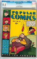 Platinum Age (1897-1937):Miscellaneous, Popular Comics #18 (Dell, 1937) CGC VF+ 8.5 Cream to off-white pages....