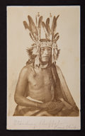 American Indian Art:Photographs, STANDING BUFFALO, LITTLE HILL, and LITTLE CROW . c. 1862... (Total:3 Items)
