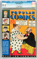 Platinum Age (1897-1937):Miscellaneous, Popular Comics #15 (Dell, 1937) CGC VF+ 8.5 Light tan to off-white pages....
