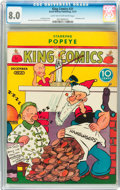 Platinum Age (1897-1937):Miscellaneous, King Comics #21 (David McKay Publications, 1937) CGC VF 8.0 Lighttan to off-white pages....