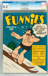 The Funnies #17 (Dell, 1938) CGC VF+ 8.5 Off-white to white pages