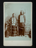 American Indian Art:Photographs, RED FEATHER and COME AFTER HIM, SIOUX . c. 1890... (Total: 2 Items)