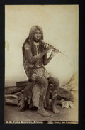 "American Indian Art:Photographs, ""YUMA MUSICIAN"" and ""A STUDY IN BRONZE"". c. 1885. ... (Total: 2Items)"