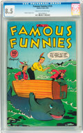 Golden Age (1938-1955):Miscellaneous, Famous Funnies #133 (Eastern Color, 1945) CGC VF+ 8.5 Cream to off-white pages....