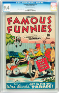 Golden Age (1938-1955):Humor, Famous Funnies #131 (Eastern Color, 1945) CGC NM 9.4 Cream to off-white pages....