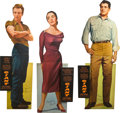 "Movie Posters:Drama, Giant (Warner Brothers, 1956). Standees (3) (68"" X 24"").. ...(Total: 4 Items)"