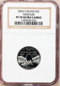 Proof Statehood Quarters, (2)2003-S 25C Missouri Silver PR 70 Ultra Cameo NGC. ... (Total: 2coins)