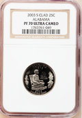 Proof Statehood Quarters, (2)2003-S 25C Alabama Clad PR 70 Ultra Cameo NGC. ... (Total: 2coins)