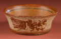 Pre-Columbian:Ceramics, Flaring Maya Bowl with Underworld Bird...