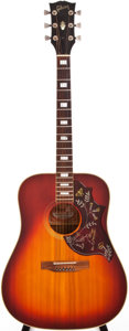 Musical Instruments:Acoustic Guitars, 1974-75 Gibson Hummingbird Custom Sunburst Acoustic Guitar,#245310. ...