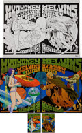 Music Memorabilia:Original Art, Mudhoney/The Melvins Chuck Sperry Concert Poster/Handbill Original Art (2007).... (Total: 5 Items)