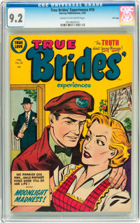 True Brides' Experiences #10 File Copy (Harvey, 1955) CGC NM- 9.2 Cream to off-white pages