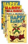 "Golden Age (1938-1955):Funny Animal, Happy Rabbit Davis Crippen (""D"" Copy) pedigree Group (Standard,1951-52).... (Total: 5 Comic Books)"