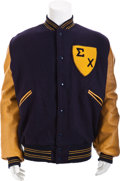 Movie/TV Memorabilia:Costumes, A Sigma Chi Letterman Jacket, 1970s....