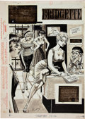 "Original Comic Art:Splash Pages, Bill Ward Cracked #6 ""Bridgette Barf-Arf-Arf-Doe"" BrigitteBardot Lampoon Splash Page 24 Original Art (Major Magaz..."