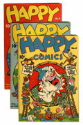 "Golden Age (1938-1955):Funny Animal, Happy Comics Davis Crippen (""D"" Copy) pedigree Group (Standard,1943-45).... (Total: 8 Comic Books)"