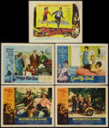 """Movie Posters:Exploitation, Motorcycle Gang And Other Lot (American International, 1957). LobbyCards (4) and Title Lobby Card (11"""" X 14""""). Exploitation... (Total:5 Items)"""