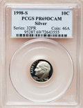 Proof Roosevelt Dimes: , 1998-S 10C Silver PR69 Deep Cameo PCGS. PCGS Population (2250/141).NGC Census: (657/296). Numismedia Wsl. Price for probl...