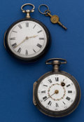 Timepieces:Pocket (pre 1900) , Two - Silver Verge Fusee For Restoration. ... (Total: 2 Items)