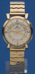 Timepieces:Wristwatch, LeCoultre Memovox Gold Filled Alarm. ...