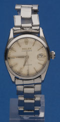 Timepieces:Wristwatch, Rolex Steel Oysterdate Precision 3/4 Size For Repair. ...