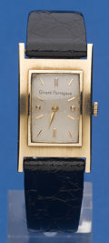 Timepieces:Wristwatch, Girard Perregaux 14k Rectangular. ...