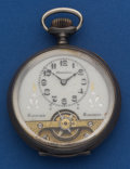 Timepieces:Pocket (post 1900), Hebdomas Swiss Sterling 8 Day With Exposed Balance. ...