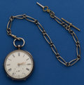 Timepieces:Pocket (pre 1900) , Jacob Josephs, Sunderland, Interesting Half Plate Lever Fusee WithChain. ...