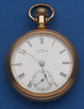 Timepieces:Pocket (pre 1900) , Waltham 18 Size With Patented Anti-Magnetic Shield Dust Cover. ...