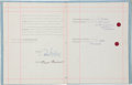 Music Memorabilia:Autographs and Signed Items, Beatles-Related - Brian Epstein Signed Contract.... (Total: 2 )