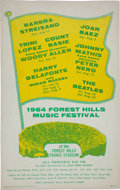 Music Memorabilia:Posters, The Beatles 1964 Forest Hills Music Festival Poster....