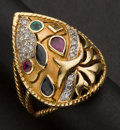 Estate Jewelry:Rings, Multi-Stone 18k Ring. ...