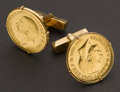 Estate Jewelry:Cufflinks, Gold Sovereign Cufflinks. ...