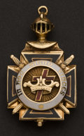 Estate Jewelry:Other , Gold & Enamel Masonic Fob. ...