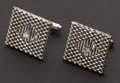 Estate Jewelry:Cufflinks, White Gold & Diamond Cufflinks. ...