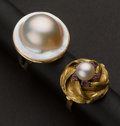 Estate Jewelry:Rings, Two Pearl Rings. ... (Total: 2 Items)