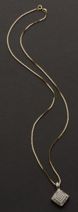 Estate Jewelry:Necklaces, Diamond Necklace. ...