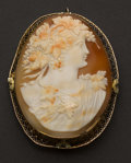Estate Jewelry:Cameos, Large Gold Shell Cameo. ...