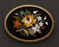 Estate Jewelry:Brooches - Pins, Gold Micromosaic Pin. ...